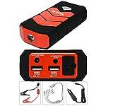 YATO Profi Powerbank mit Jumpstarter 200A/400A/9000 mAh   5V/2A USB   12V 3,5A   Notlicht   Tragbare Auto Starthilfe...