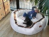tierlando LA4-05 LANA Hundesofa Hundebett VELOURS MEGA DICK gepolstert Gr. L 100cm CREME