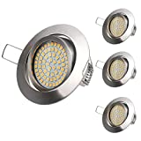 LED Einbaustrahler flach 4Pack 3.5W Warmweiße Ultra Flach LED Einbauleuchte Deckeneinbaustrahler Einbauspot...