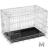 Leopet Hundekäfig Transportkäfig Transportbox Hundetransportbox zusammenklappbar (S-XXL)