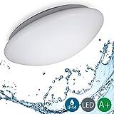 B.K.Licht LED Deckenleuchte, Bürodeckenleuchte, Balkonleuchte, Balkonlicht, Badezimmerleuchte, Badezimmerlampe,...