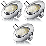 Brandson - LED Deckenspot warmweiß schwenkbar 3er Set | LED Einbauleuchte | LED Einbauspot / Spotlight / LED Deckenstrahler | Slim...