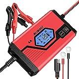 SUAOKI 4A Batterie Ladegerät 6/12V, Batterieladegerät Erhaltungsladegerät 8 Schritt Vollautomatisches Kraftpaket...
