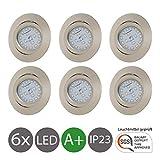 LED Einbaustrahler Schwenkbar Ultra Flach Inkl. 6 x 5W LED Modul 230V IP23 LED Deckenstrahler Einbauleuchte...