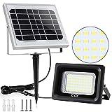 Solar Strahler CLY Solarlampe Außen 60 Verbesserte LED für Hohe Helligkeit 4000mAh Batterie Solarpanel Licht Gesteuert...