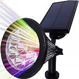 Solar Strahler, LEDNut 7 LED 320 Lumen 7 Farben Solarbetriebene Scheinwerfer 2-in-1 Verstellbare Gartenleuchten...