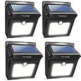4Pack 28 LEDs Solarleuchten für Aussen, Neloodony [400 Lumen] Superhelle mit Bewegungsmelder Wasserdichte Solarleuchte...