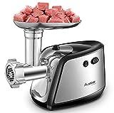 Aobosi Elektrischer Fleischwolf Fleisch Fleischwolf & Wurstmaschine Profi Nahrungsmittelmaschine mit 3 Edelstahl...