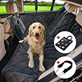 Wasserdichte Hunde Autoschondecke mit Seitenschutz & Reißverschlüsse & Taschen, Universalgröße 150x137 CM,...