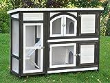nanook Kaninchenstall, Hasenstall Jumbo XL mit seitlichen Aufgängen für mehr Platz - Wetterfest extragroß 138 x 48 x...