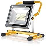 BRANDSON - LED Baustrahler 30W | Arbeitsleuchte | Arbeitsscheinwerfer | Bauscheinwerfer | inkl. Standgestell und...