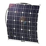 GIARIDE Solarmodul 18V 12V 50W Solarpanel Monokristallin Solarzelle Photovoltaik Solarladegerät Solaranlage Flexibel...