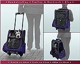 Hundetrolley / Transport für Hunde / Trolley & Rucksack XL Blau