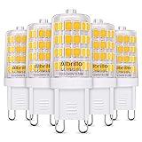Albrillo 5er Pack 3.5W G9 LED Lampe 400 Lumen, Kein Flackern und 3000k warmweiß G9 LED Leuchtmittel Ersatz 40W G9...