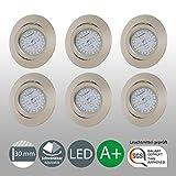 LED Einbaustrahler Schwenkbar Ultra Flach Inkl. 6 x 5W LED Modul 230V IP23 LED Deckenstrahler Einbauleuchte Deckeneinbaustrahler Einbauspot Spot...