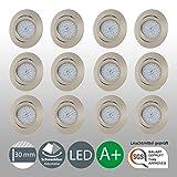 LED Einbaustrahler Schwenkbar Ultra Flach Inkl. 12 x 5W LED Modul 230V IP23 LED Deckenstrahler Einbauleuchte Deckeneinbaustrahler Einbauspot Spot...