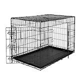 dibea DC00495, Transportkäfig für Hunde und Kleintiere, stabile Box aus kräftigem Draht, faltbar / klappbar, 2...