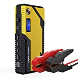 500A Spitzenstrom 12000mAh Tragbare Auto Starthilfe Autobatterie Anlasser, Externer Akku Ladegerät mit Kompas, LCD...