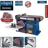Scheppach Band-Tellerschleifer BTS 900 (Schleifmaschine mit 370W, 230V, 2850 min-1, Schleifteller Ø 150mm, inkl. 3x...