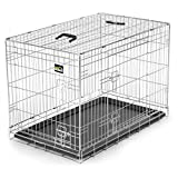 zoomundo L Hundekäfig Transportkäfig Transportbox Tierkäfig Drahtkäfig faltbarer Käfig aus Metall mit...