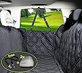 Hundedecke für Auto Rückbank. Wasserdicht! Komplettschutz Comfort Autoschondecke für Hunde, Wasserfester Rücksitz...