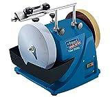 Scheppach Nass-Schleifsystem TIGER 2000S (Nass-Schleifmaschine mit 120W, Schleifstein aus Edelkorund mit Ø 200mm,...