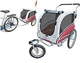 polironeshop Modell Argo, Transportanhänger und Kinderwagen für den Transport von Hund und Tiere rot S