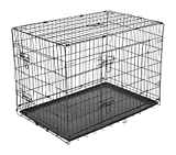 PawHut Transportkäfig Drahtkäfig Hundebox Hundekäfig Transportbox Reisebox mit 2 Türen 2 Farben in 5 Größen...