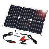 SUAOKI Solar Panel 18W 18V Ladegerät Solarzelle Solarladegerät für Auto Boot RV Traktor Motorrad Automobil 12V...