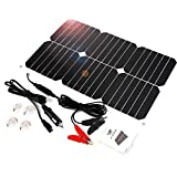ALLPOWER Solar Panel Battery Maintainer 18V 12V 18Watt Solarzelle Auto Boot Power Panel Ladegerät Wartung für Auto...