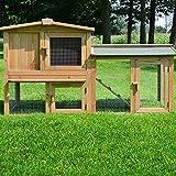 Zooprimus Kaninchenstall 01 PL Hasenkäfig - MEISTER LAMPE - Stall für Außenbereich (für Kleintiere: Hasen,...