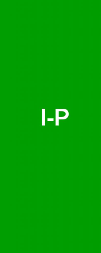 Die Buchstaben I bis P des Alphabets in weißer Schrift auf grünem Hintergrund.